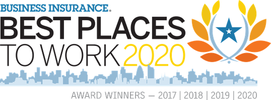 Best place to work award for 2017 - 2020 for business insurance